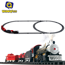 Better than Thomass Train Classic toys Enlighten Train Battery Operated Railway Car Electric Train Set with Sound&Smok Rail Car(China (Mainland))