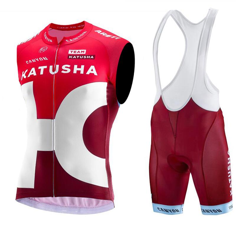 2016 Team KATUSHA Sleeveless Cycling Jerseys/Breathable Bike Clothing/Quick Dry Roupa Ciclismo Cycling Clothes(China (Mainland))