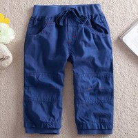 2/6T blue short pants for boys,kid fashion trousers,baby clothes,children pants,All children's clothes and accessories