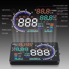 "5.5"" Large Screen Car HUD Head Up Display With OBD2 Interface Plug & Play(China (Mainland))"