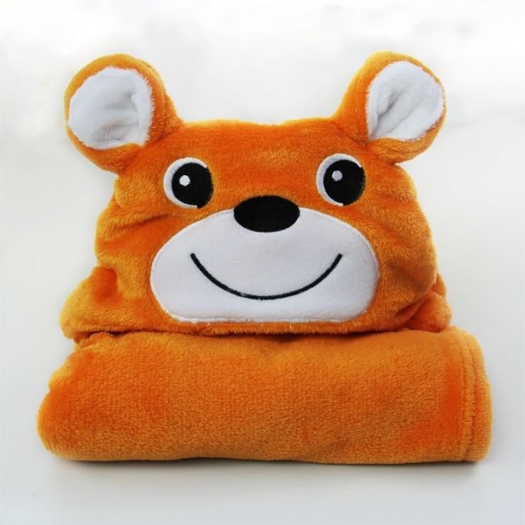 Мода мультфильм звериного стиля ребенок с капюшоном халат высокое качество супер-мягкие младенец полотенце банный халат детям пляжные полотенца