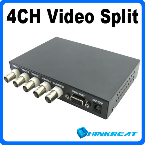 4CH Color Video Quad Splitter Processor for CCTV System Free Shipping VB11#(China (Mainland))