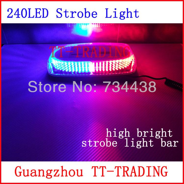 Vehicle roof Strobe Lights 240LED Warning light emergency strobe light led mini light bar with magnet DC12V red blue white amber(China (Mainland))