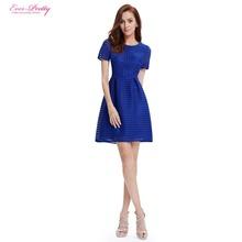 Abiti homecoming mai abbastanza AP05316SB semplice moda zaffiro blu girocollo manica corta vestito corto 2016 nuovo arrivo(China (Mainland))
