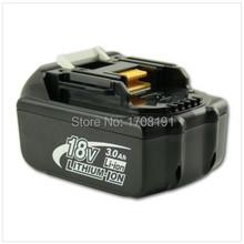 Привет — 1 пакетов makita 18 v BL1830 3000 mAh компактный электропитание инструмент аккумулятор, Погружены singaport сообщение