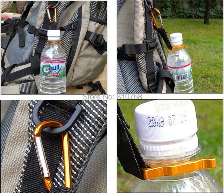 Free shipping 1pc camping Carabiner Water Bottle Buckle Hook Holder Clip For Camping Hiking survival Traveling