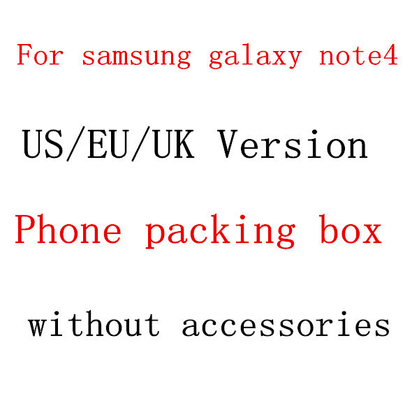 50pcs/lot US,EU,UK Version Retail Package Empty Packing Box for Samsung Galaxy Note4 N910 without Accessories