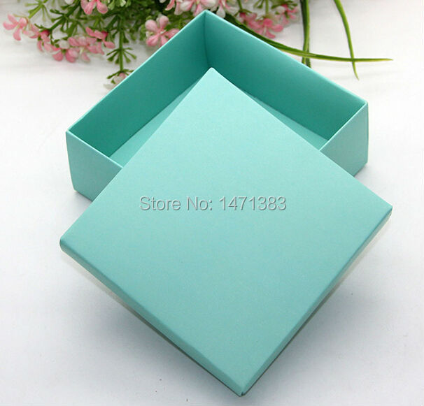 Free Shipping Size 9.3*9.3*4cm Large blue paper boxes packing,blue gift paper boxes(China (Mainland))