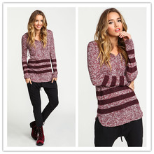 Women Pullovers Sweater Trendy Autumn Winter Warm Color Red Hooded PU Polyester Slim Casual Full New Fashion 2014 for Women(China (Mainland))
