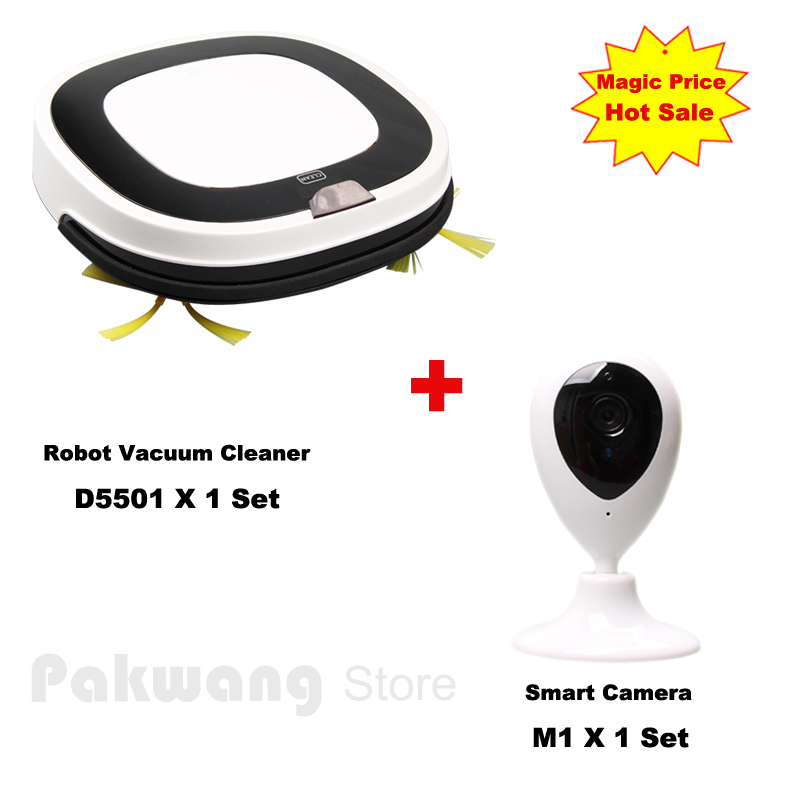 2017 Smart Camera Baby Monitor And Most Advanced Vacuum Cleaner Robot D5501 Wet and Dry Mop Washing Vacuum Cleaner(China (Mainland))