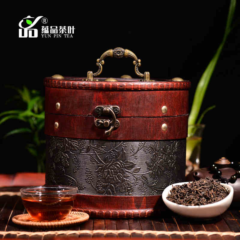 Top shu puer loose tea 400g old pu er tea Beautifully packaged barrel pu erh tea