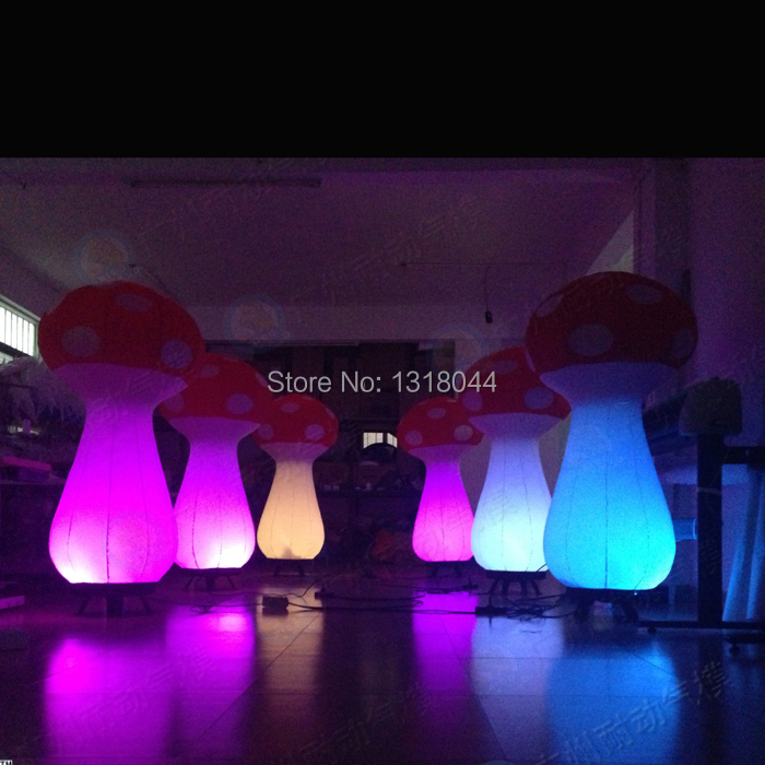 Inflatable mushroom with led lights&blower(China (Mainland))