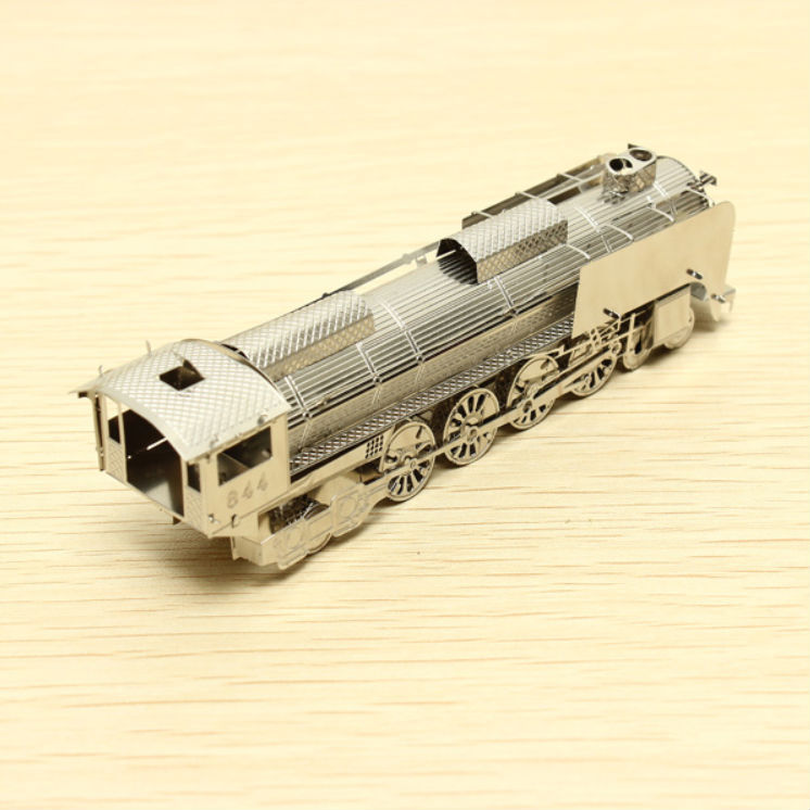 ZOYO 3D Puzzle DIY Assemble Metal Nano Steam Train Model Jigsaw Puzzle Gift DIY Decoration(China (Mainland))