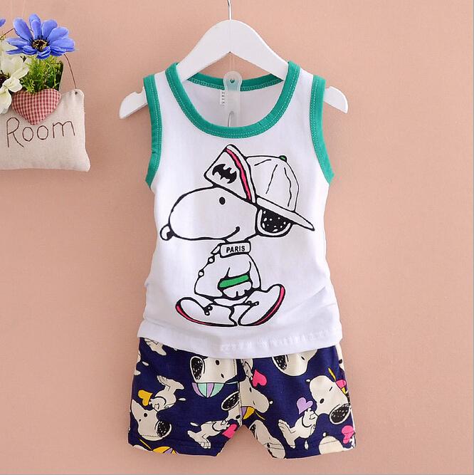 Summer Style 100% Cotton Fashion Animal Children T Shirts&Mickey Shorts Kids Boys Clothes Baby Boy Clothes(China (Mainland))