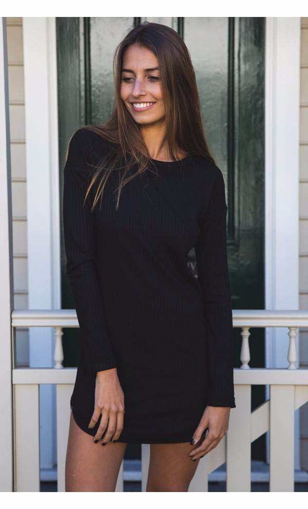 Pics For Black Long Sleeve Shirt Women Outfit