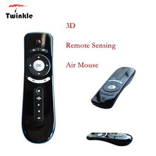 Factory Price Newly Design 2015 Fashion Gyroscope Mini Fly Air Mouse T2 2.4G Wireless 3D Remote Sensing Air Mouse 51228 WL1L(China (Mainland))