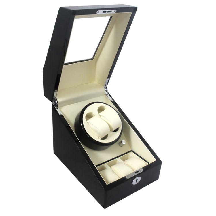 Top Quality 2 Automatic Wood Watch Winder + 3 Box Case Locks<br><br>Aliexpress
