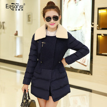 Discount the new paragraph coat lamb collars cotton cotton dress of cultivate one's morality grows in winter Women's clothing