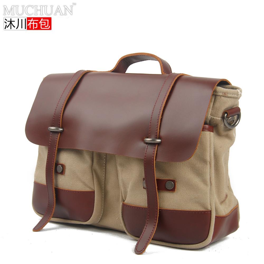 Handbag Women Lady Genuine Leather Canvas Bag Crossbody Sacoche Luxury Shoulder Messenger Quilted Sac A Main Bag Business(China (Mainland))