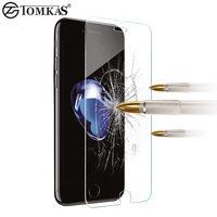0.3MM Tempered Glass For iPhone 7 / 7 Plus Phone Scratch Proof Screen Protector For iPhone 7 Plus Glass Protective Film TOMKAS