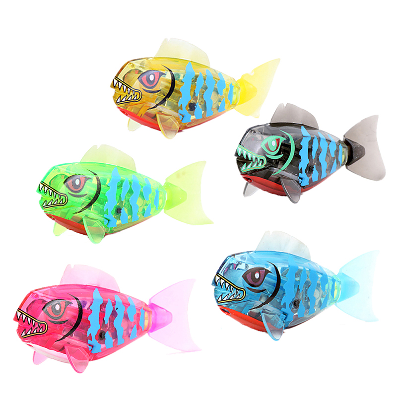 New Cool Activated Battery Powered Robo Fish Toy Childen Kids Bath toy Robotic Pet Electronic Pets FCI#(China (Mainland))