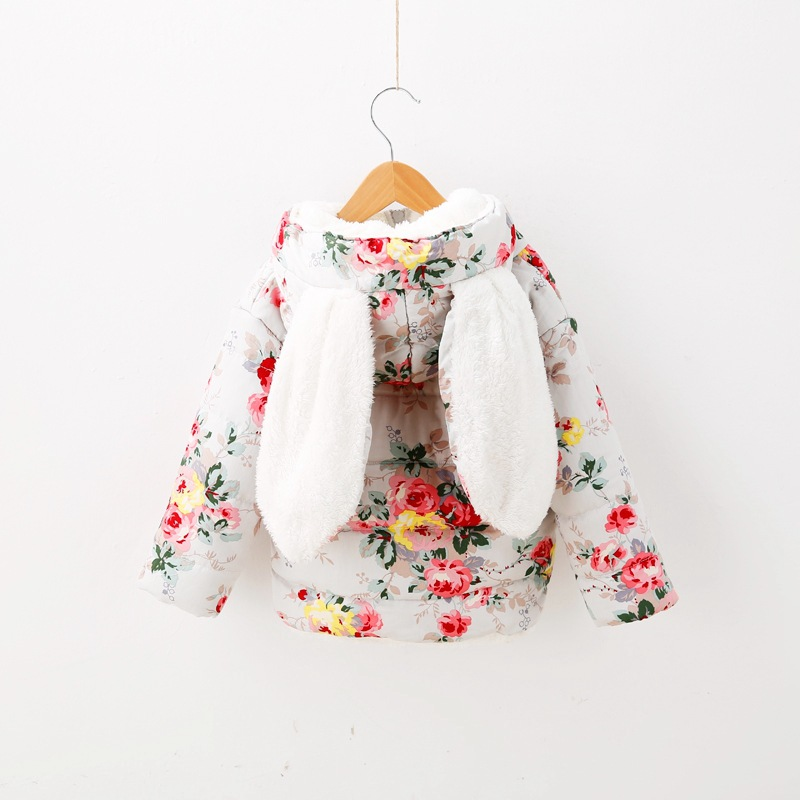 Girls Thick Cotton Padded Jacket Sherpa Gorgeous Flowers Bunnies Best<br><br>Aliexpress