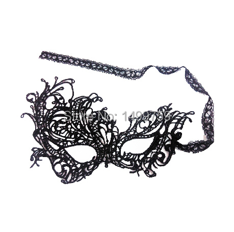 Black Sexy Lady Lace Mask Party Favors Masquerade Masks For Women Halloween Decoration