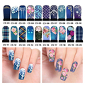 5pcs Hot Water Nail Art Decal Flowers Design Watermark Transferable Stickers DIY Nail Decoration Supplies C5