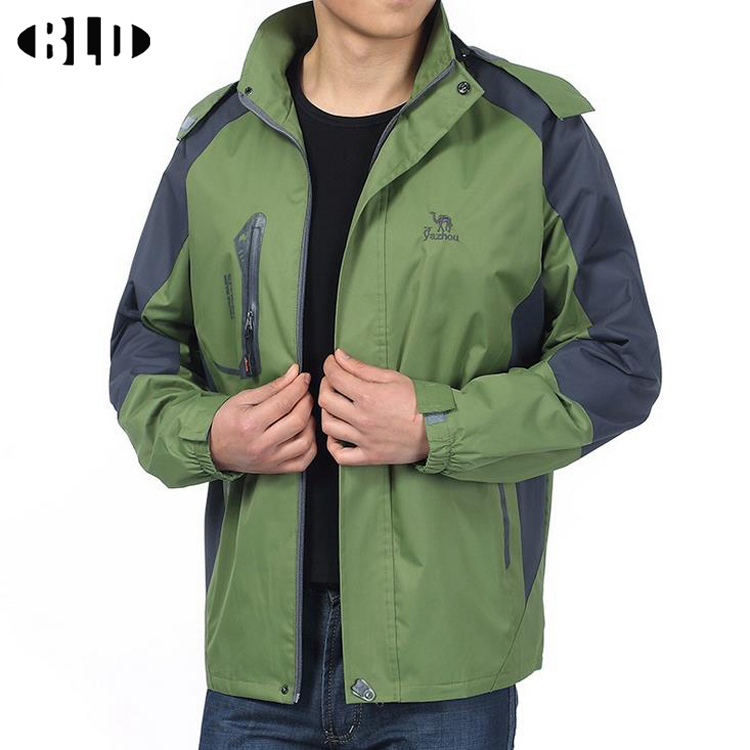 Hot Winter Spring man jacket softsell windproof 800g warm solid Stand collar Travel jackets waterproof jacket XL,XXL,XXXXL x60(China (Mainland))