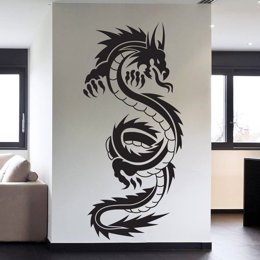 Comparer les prix sur chinese tribal tattoo online for Decoration murale dragon ball z