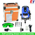 KaiTian Green Laser Level Battery 3 Lines Self Leveling with Tilt Slash Function 360 Rotary Outdoor