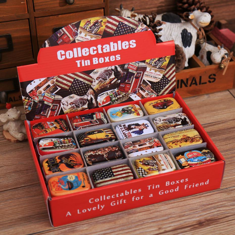 Free Shipping !decoration Collection Display Candy Pill Chutty Mini Storage Metal Cartoon Tin Box 5.5*4*2.5cm(China (Mainland))