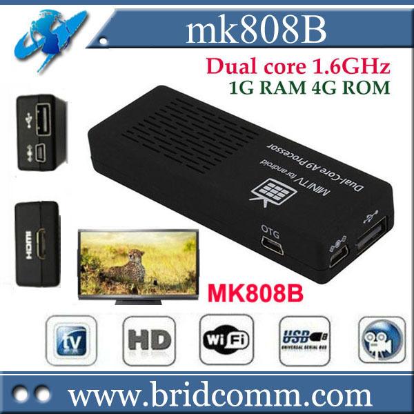 original MK808B MK808 Android Mini PC TV Stick Bluetooth RockChip RK3066 Dual Core Cortex-A9 1.6GHz Wifi DLNA XBMC(China (Mainland))