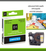 red ink 9mm label 40915 compatible d1 label tape cartridges with dymo d1 label printer