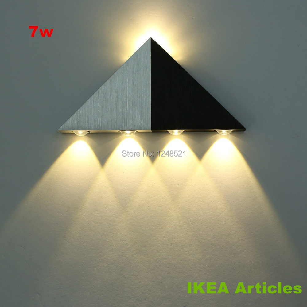 quality decor wall lamp 7w warm white led wall light ac85v 265v