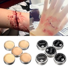 1X Halloween Modeling Fake Wound Scar Eyebrow Blocker Wax Special Effect Makeup(China (Mainland))