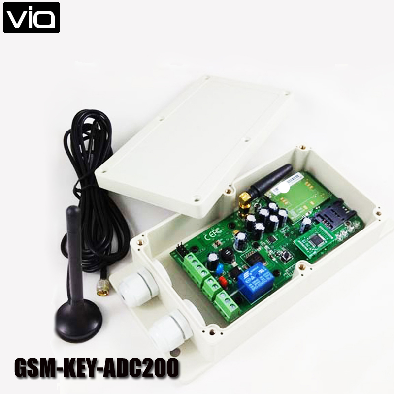 VIA GSM-KEY-ADC200 Free Shipping Garage Door Remote Access Controller QUAD Design for Door Opener(China (Mainland))