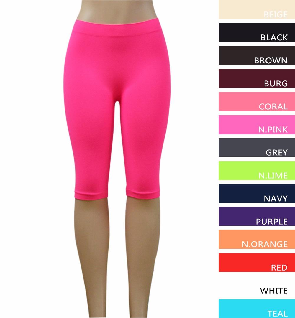 """Fitness Leggings Material: MsLeg Women 19"""" Length Seamless Nylon Material Gym"""