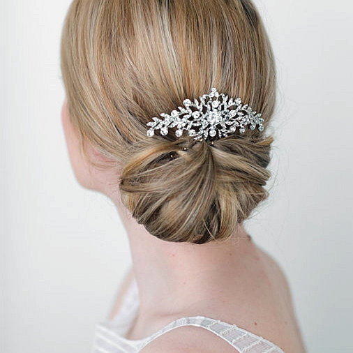 Top Quality New Fashion Wedding Hair Accessories For Bride Rhinestone Crystals Hair Comb Hair Pieces Hair Jewelry For Women XLL2(China (Mainland))