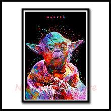 Cartel blanco de la Guerra de Las Galaxias Darth Vader Luke jedis. nueva Esperanza el despertar de la fuerza. ¡Rogue uno! pegatinas de pared de la amenaza fantasma sin marco(China)