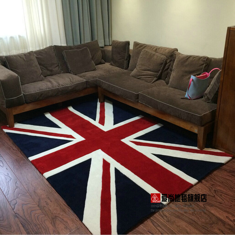 British Style Torx Flag Carpet Living Room Carpet Coffee Table Mat Bed Blankets Mats Doormat Rug
