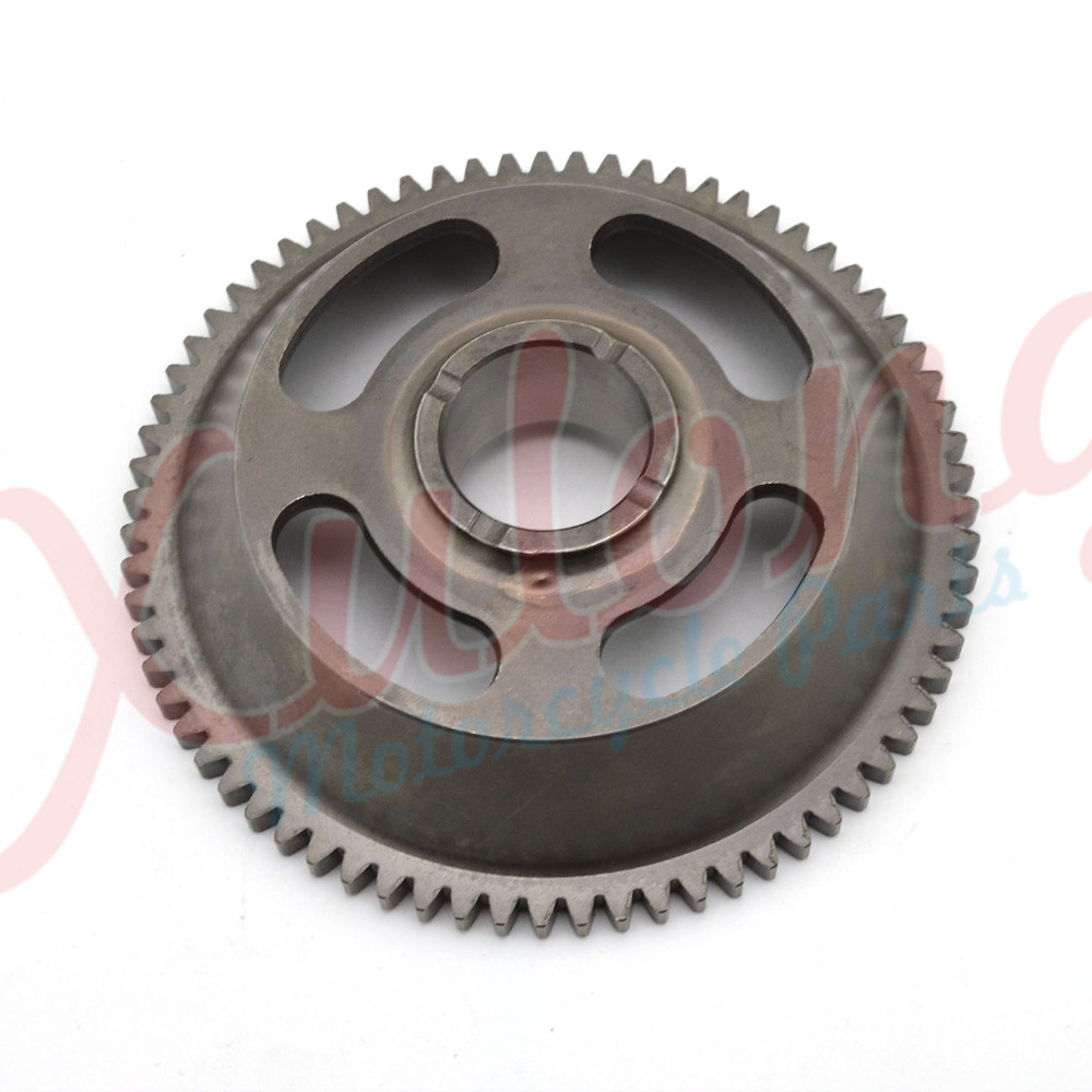 Free Shipping Motorcycle Engine parts one way Starter Clutch Gear Assy For Yamaha YBR250 YBR 250