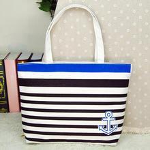 Buy high women's handbags made Canvas Blue Anchor Pattern Womens Shopping Shoulder Bags Female Handbag Beach #EY for $4.47 in AliExpress store