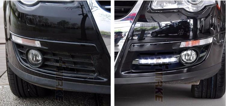 Купить Hireno Автомобилей СИД DRL Водонепроницаемый ABS 12 В Дневные Ходовые Огни для Volkswagen Passat B6 2007-11 Fog lamp 2 ШТ.
