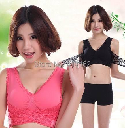 60pcs/lot push up Genie bra Lace bra 7 colors available(China (Mainland))