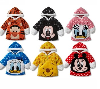 New Hot Children Warm Hoodies Fit 1-4Yrs Girls Boys Kids Thick Sweatshirt Outwear Baby Winter Coat Baby Clothing Free Shipping