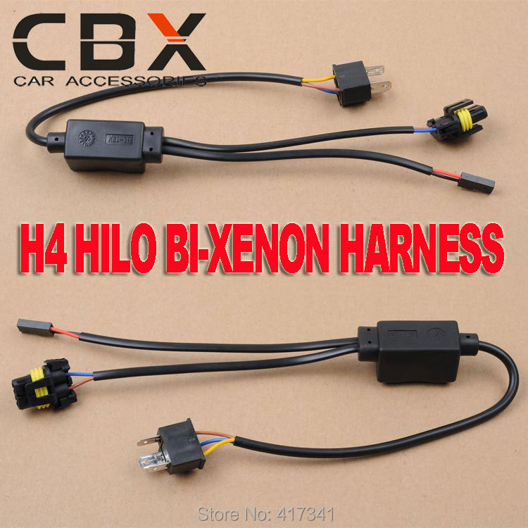 Free Shipping Universal H4 Hi-Lo Relay Wiring Harness HID Xenon Ballast Cables Wire Connector for One Auto Motor Headlamp Light<br><br>Aliexpress