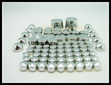 Freeshipping CHROME BOLT CAPS Topper 2007-2013 Harley Softail FL FLS FX 07-12 - Motorcycle Parts Retail& Aftermarket store