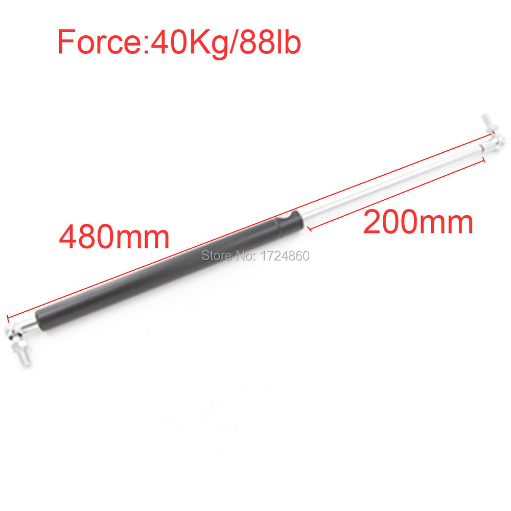 40KG/88lbs Force 200mm Long Stroke M8 Ball End Lift Support Auto Gas Spring 480mm Central Distance 480*200mm<br><br>Aliexpress
