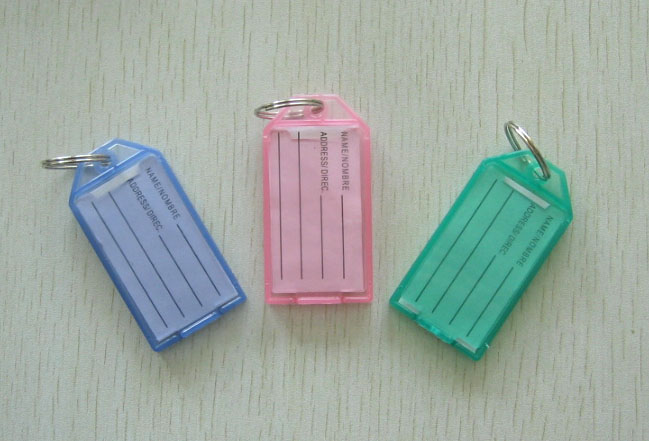 Multicolour key card luggage tag tablature finaning classification keychain number cards(China (Mainland))